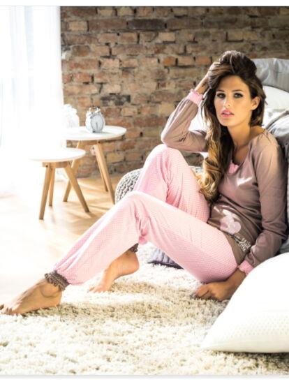 POPPY Belle pizsama barna-rózsaszín