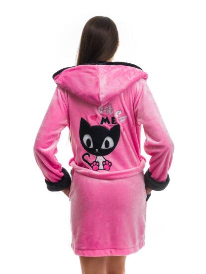 POPPY DK Masnis Cica köntös k.pink-fekete 526e6b9e54