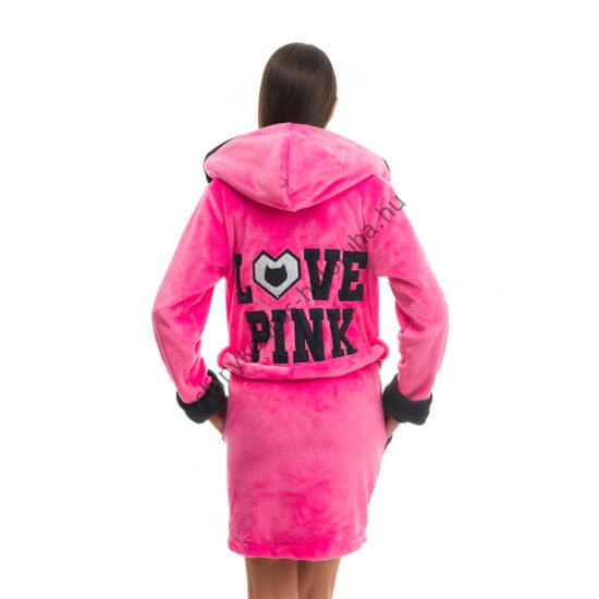 POPPY DK Love Pink köntös UV pink-fekete