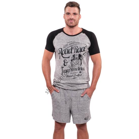 KÖNIG UV Road férfi pizsama - szürke