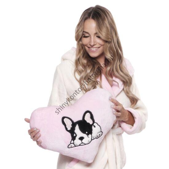 POPPY Frenchie Bulldog kutya párna - rózsaszín