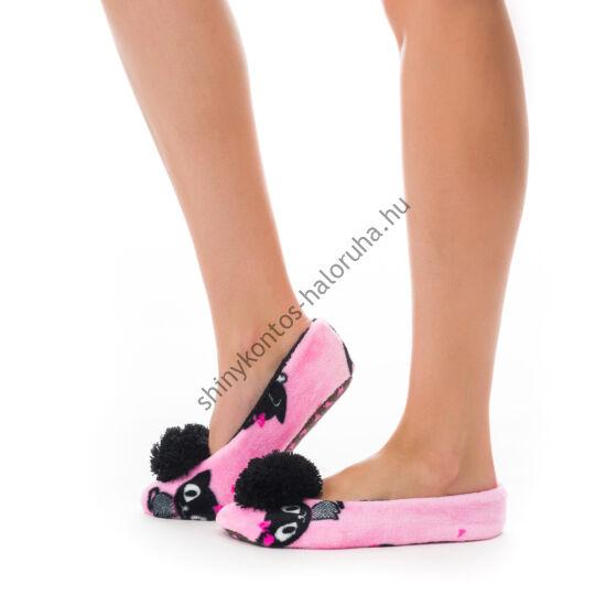 POPPY Masnis Cica Mintás pink-fekete mamusz