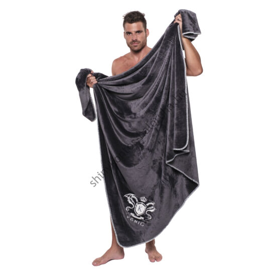 POPPY König Underwear hímzett takaró - sötétszürke