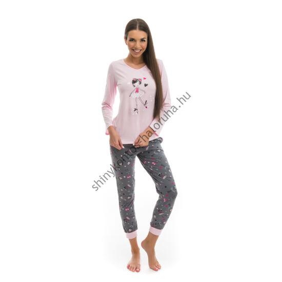 POPPY Chill Balerina pizsama szürke-rózsa