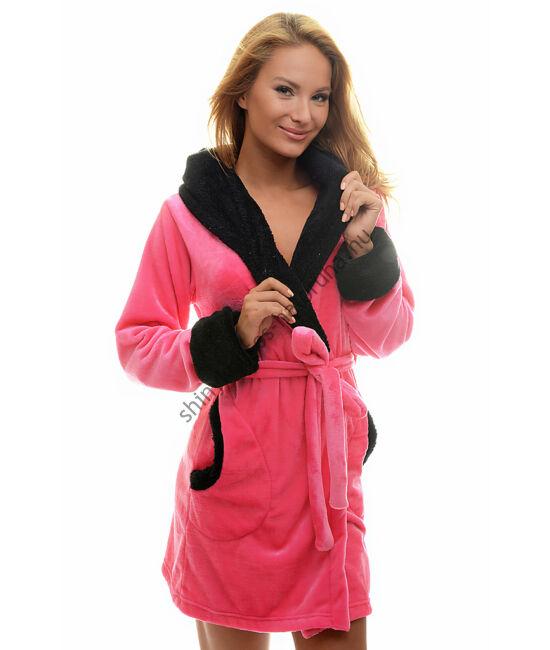 POPPY GIRL pink-fekete női köntös