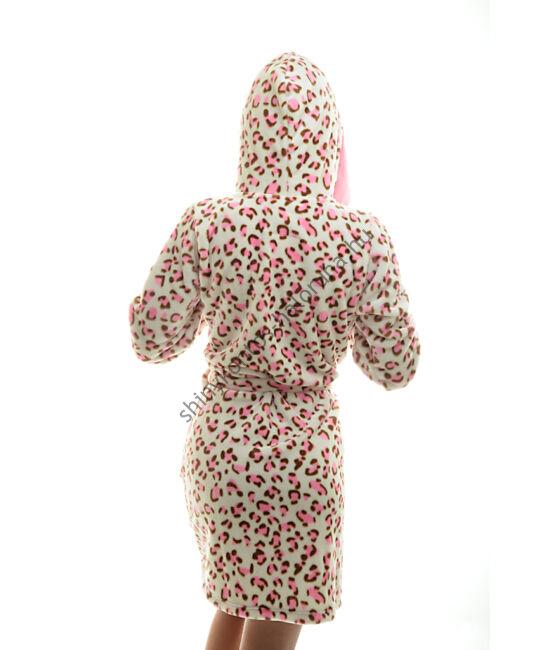 Poppy köntös - Pink Ocelot szimpla kapucnis