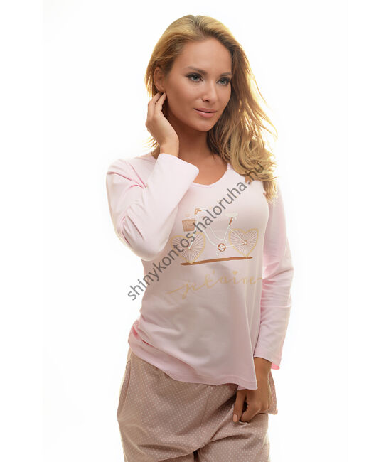 POPPY Chill Bicikli pizsama rózsa-púder