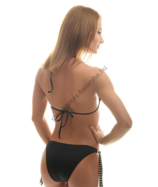 POPPY CRYSTAL Bikini, fürdőruha - MIAMI (fekete-fehér-arany csíkos)