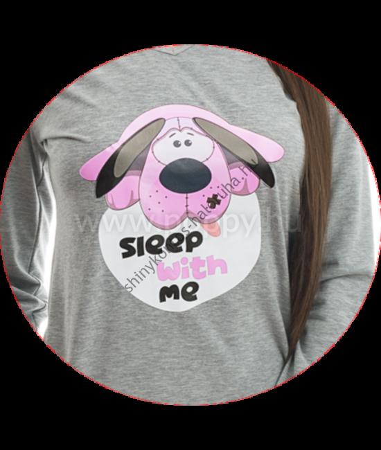 POPPY Chill Kutya pizsama szürke-rózsa