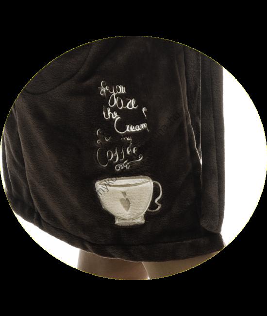 Poppy Sálgalléros Kávés Barna-Kávé Köntös