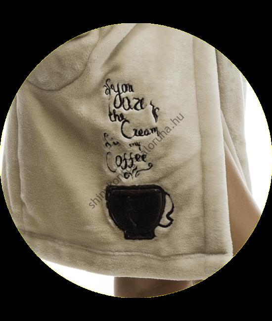 Poppy Sálgalléros Kávés Kávé-Barna Köntös