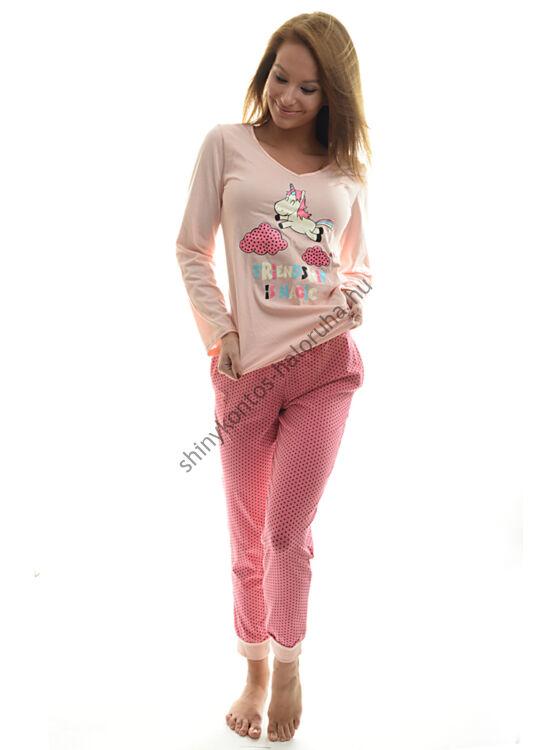 POPPY Chill UNIKORNIS pizsama barack-fekete-pink