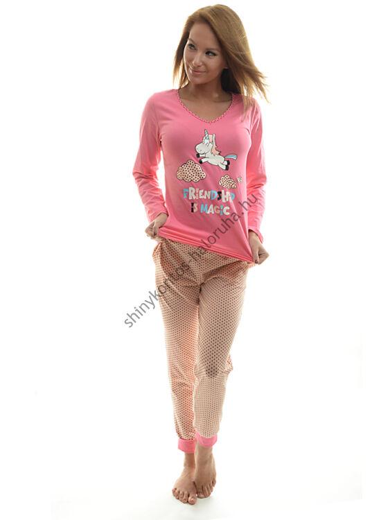 POPPY Chill UNIKORNIS pizsama pink-fekete-barack