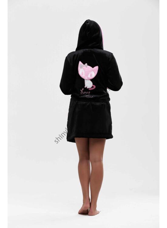 POPPY Masnis Cica köntös sötétbarna-rózsaszín