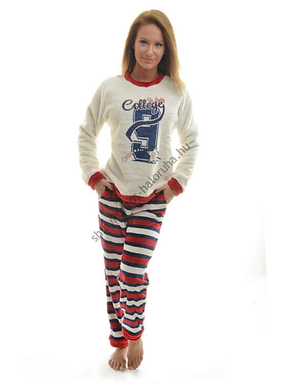 Poppy pizsama Nice College kék-piros-fehér csík