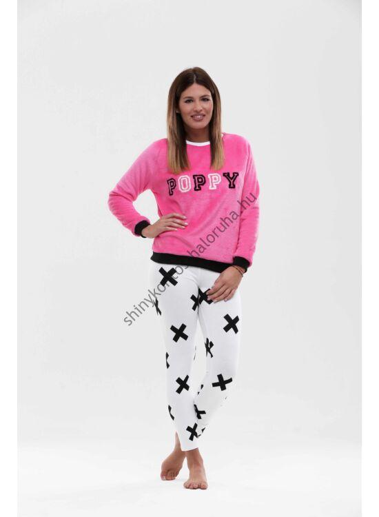 "POPPY pizsama ""BROOKLYN"" fehér-fekete-pink"