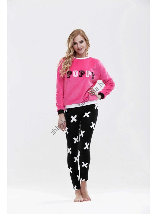 "POPPY pizsama ""BROOKLYN"" fekete-fehér-pink"