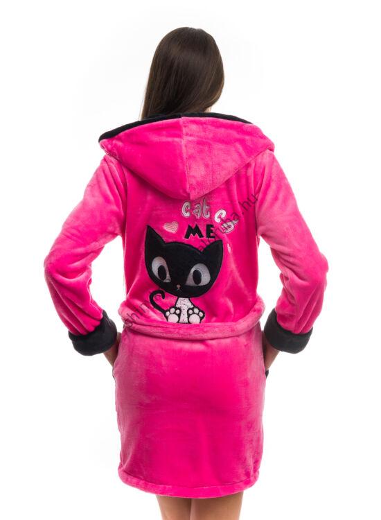 POPPY DK Masnis Cica köntös UV.pink-fekete