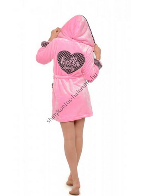 POPPY köntös Hello Lovely pink-pink kockás XL-XXL