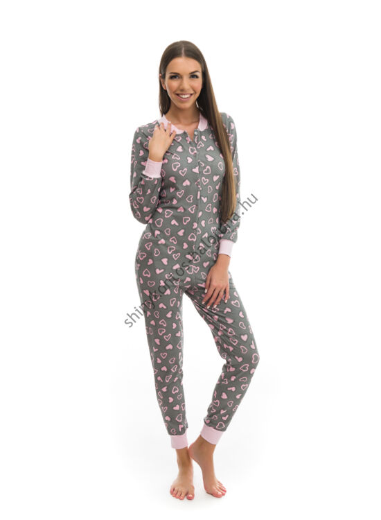 f6a730a4f POPPY Pez Szives mintás pamut pizsama-overál