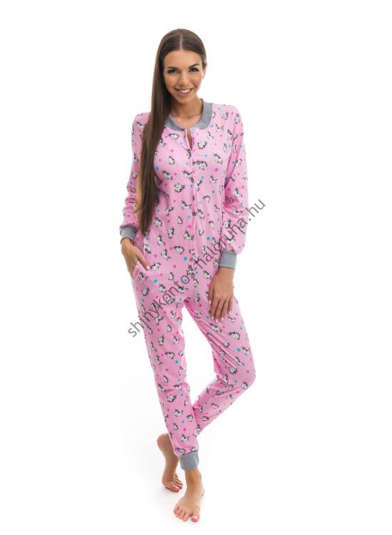 POPPY Pez Unikornis mintás pamut pizsama-overál
