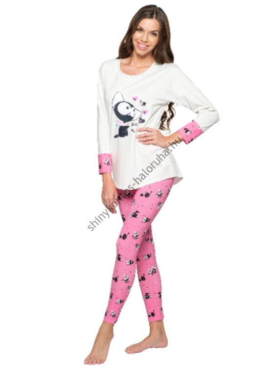 POPPY Madeline Nyakörves cica mintás pizsama