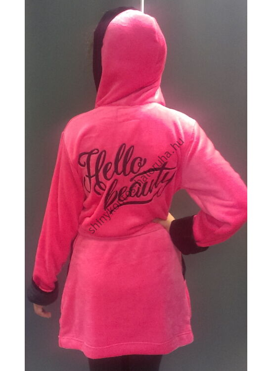 "POPPY ""HELLO BEAUTY"" pink-fekete női köntös"