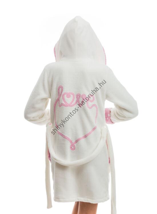 POPPY DK Love aprószives köntös ekrü-k.pink