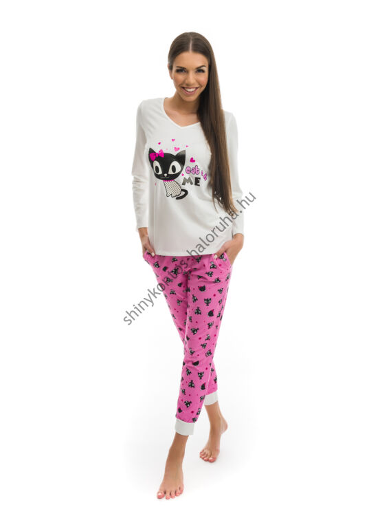 POPPY Chill Masnis Cica mintás pizsama