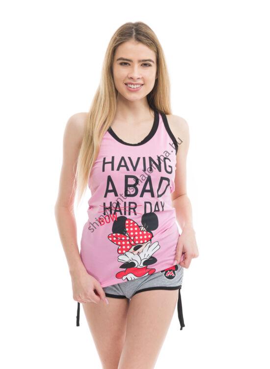 POPPY Freaky Minnie Bad Bow 2 részes trikó szett - SZÜRKE