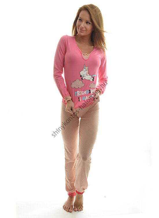POPPY Belle UNIKORNIS pizsama pink-fekete-barack