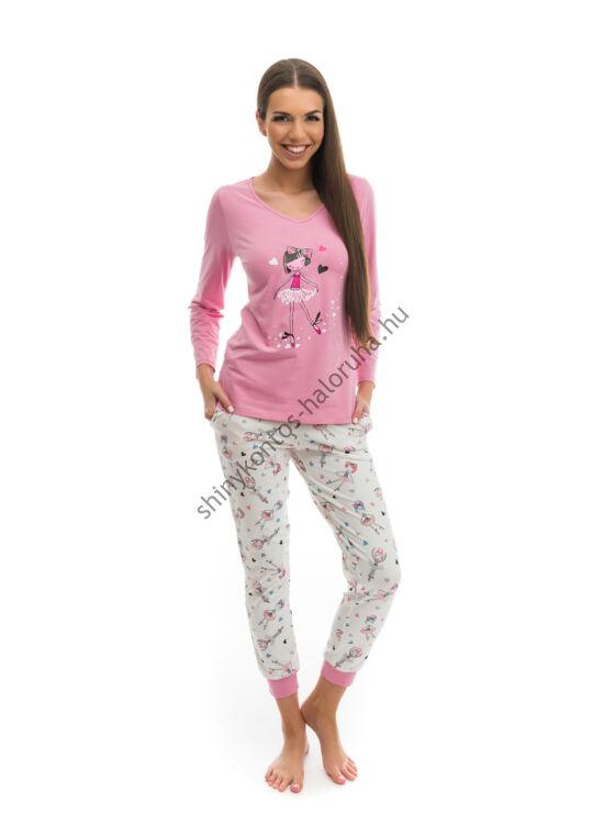 POPPY Chill Balerina pizsama ekrü-mályva