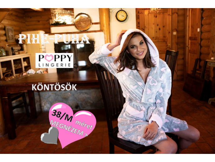 POPPY köntös - 38 M méret - POPPY KÖNTÖS - POPPY LINGERIE Köntös és  Hálóruha Hivatalos Viszonteladói Webshop 1f64ca5a6c