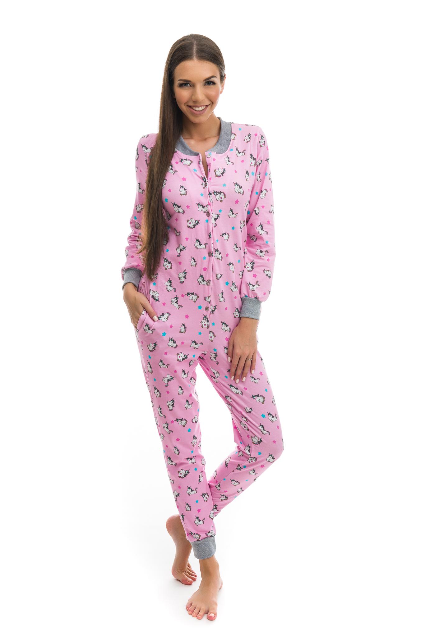 b678a1e41 POPPY Pez Unikornis mintás pamut pizsama-overál
